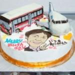 飛行機とバスの立体ケーキ