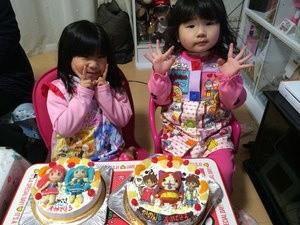 プリキュアと妖怪ウォッチのケーキ