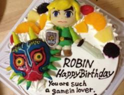 ゼルダの伝説ゲームキャラケーキ立体ケーキ