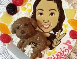 似顔絵とペットのケーキ