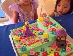 ラプンツェルのイメージケーキ