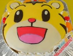 しまじろう顔ケーキ