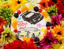 車イラストケーキ