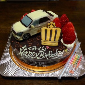 クラウン立体ケーキ