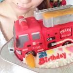 消防車立体ケーキ♪