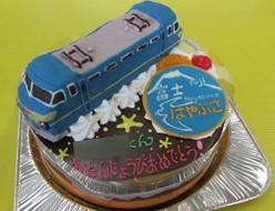 はやぶさ電車ケーキ