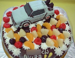 デロリアン立体ケーキ