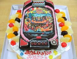 パチンコ台立体ケーキ