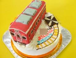 阪急電車立体ケーキ