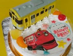西武電車&チャギントンのケーキ