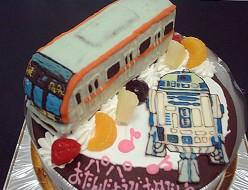 東京メトロ10000系とス ターウォーズのケーキ