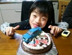 GTR車立体ケーキ