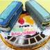 ブルートレインとトワイライトエキスプレス電車ケーキ