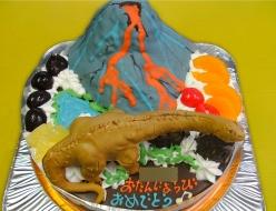 恐竜スーパーサウルス立体ケーキ