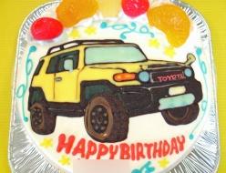 トヨタランドクルーザー、車イラストケーキ