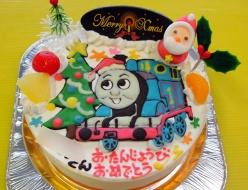 トーマスケーキ、クリスマスバージョン