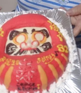 だるま立体ケーキ