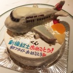 JAL飛行機立体ケーキ