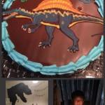 恐竜スピノサウルスケーキ