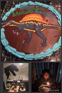 スピノサウルス恐竜ケーキ