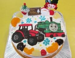 トーマスのダックとトラクターケーキ