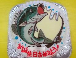 魚イラストケーキ