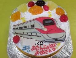 新幹線こまちイラストケーキ