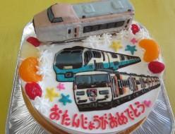 伊豆クレイル立体、踊り子号、スーパービュー踊り子号イラストケーキ