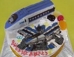 新幹線こだま立体とシンカリオンこだまイラストケーキ