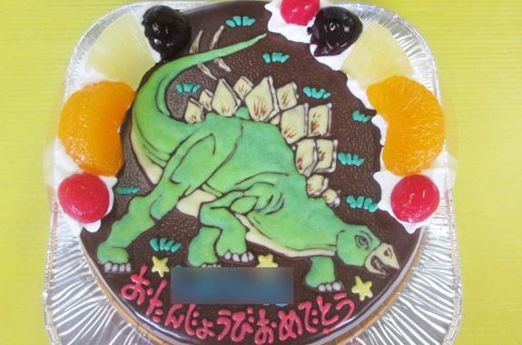 恐竜ステゴザウルスケーキ