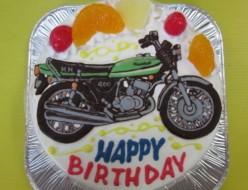 バイクイラストケーキ