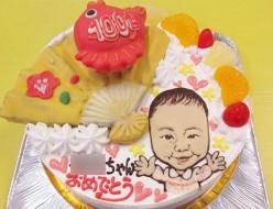 生後100日のお祝いケーキ