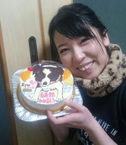 ペット(犬)イラストケーキ