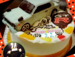 GT-R車ケーキ