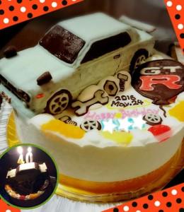 GT-R(ハコスカ)車立体ケーキ