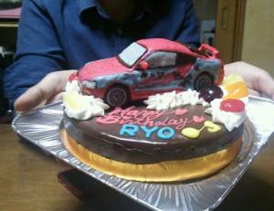 トヨタスープラ車立体ケーキ