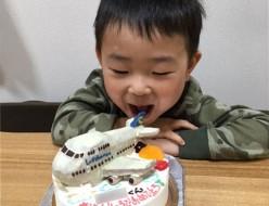 飛行機ケーキ