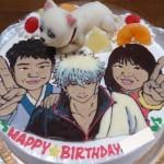 マンガの登場人物とキャラクターと似顔絵ケーキ