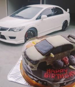 ホンダ シビック タイプR車立体ケーキ