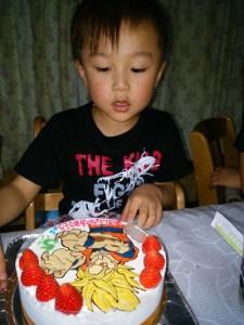 スーパーサイヤ人悟空のケーキ