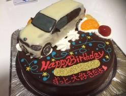 BMW車立体ケーキ