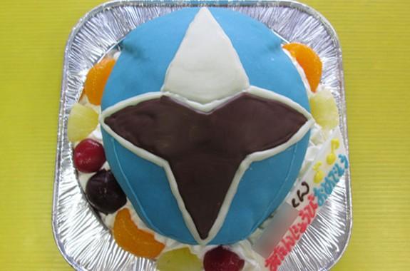 アオニンジャ顔立体ケーキ