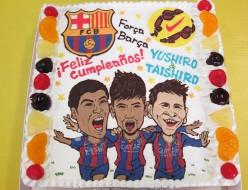 FCバルセロナサッカーのケーキ