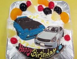 車ケーキ(日産180sxとV35スカイライン)