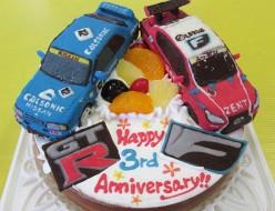 車立体ケーキ、GTRとレクサス