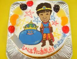 ドラクエスライムと似顔絵ケーキ