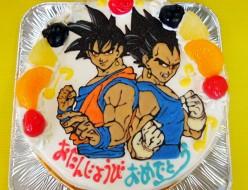 ドラゴンボール、孫悟空とベジータケーキ