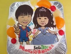 似顔絵ケーキ、ソフィアの衣装とFC東京のユニフォーム