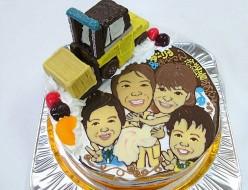 似顔絵ウェディングケーキ