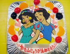 白雪姫とジャスミンのケーキ